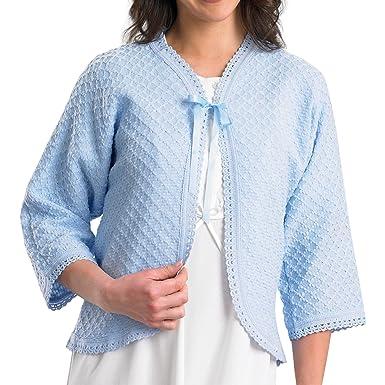 Slenderella Ladies 100 Acrylic Bed Jacket Diamond Pattern Cardigan