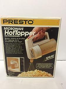 Presto Hot Topper Microwave Melter/ Dispenser (white)