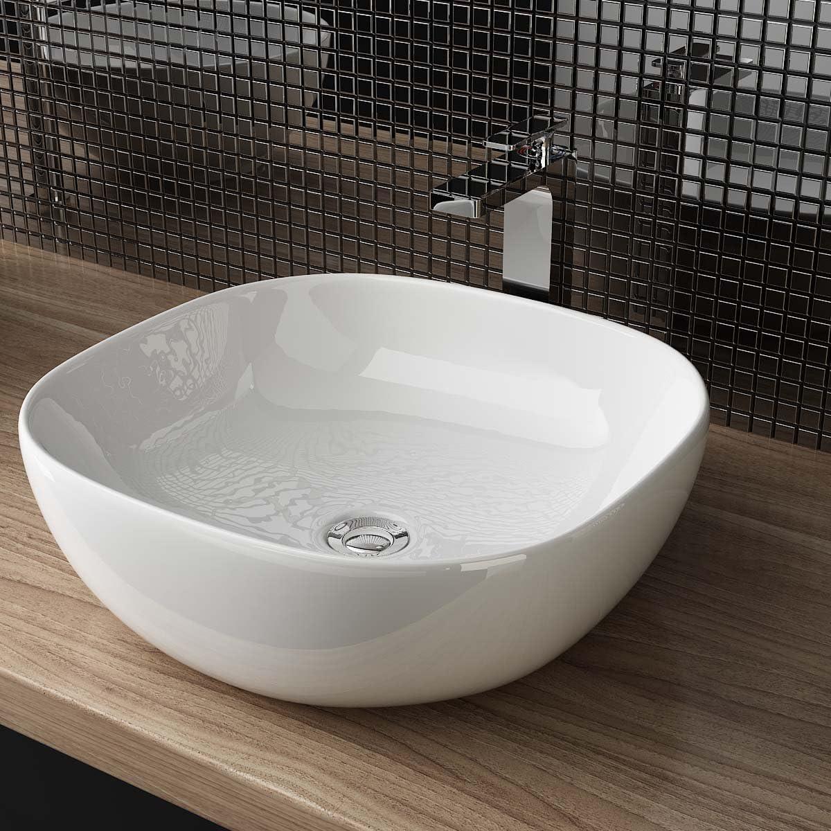 Heimwerker Aufsatzwaschbecken für das Badezimmer DESIGN KERAMIK