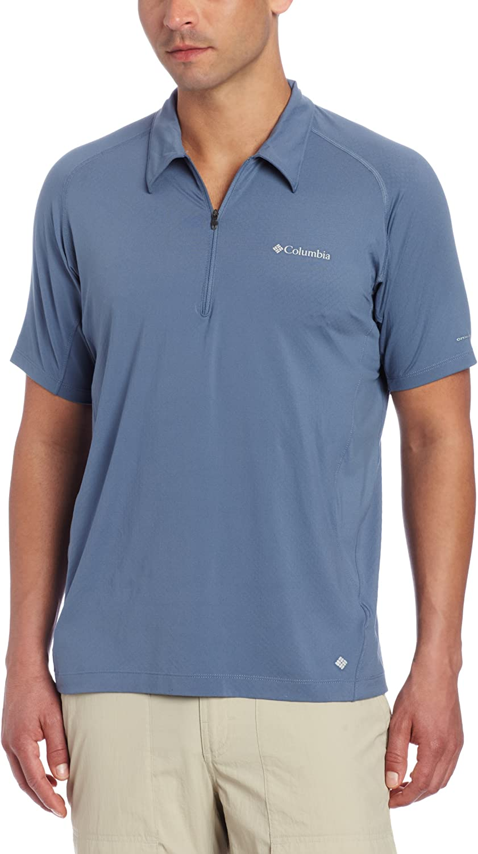 New Mens Columbia Freeze Degree Omni-Freeze Zero Short Sleeve Polo Shirt