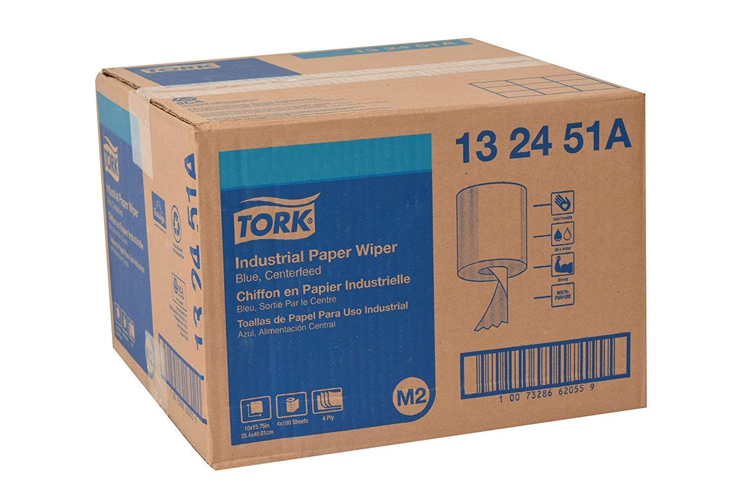 Amazon.com: Tork 132451A Industrial Paper Wiper, Centerfeed, 4-Ply, 10.0