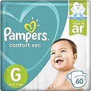 Fralda Pampers Confort Sec Super, G, 60 Unidades