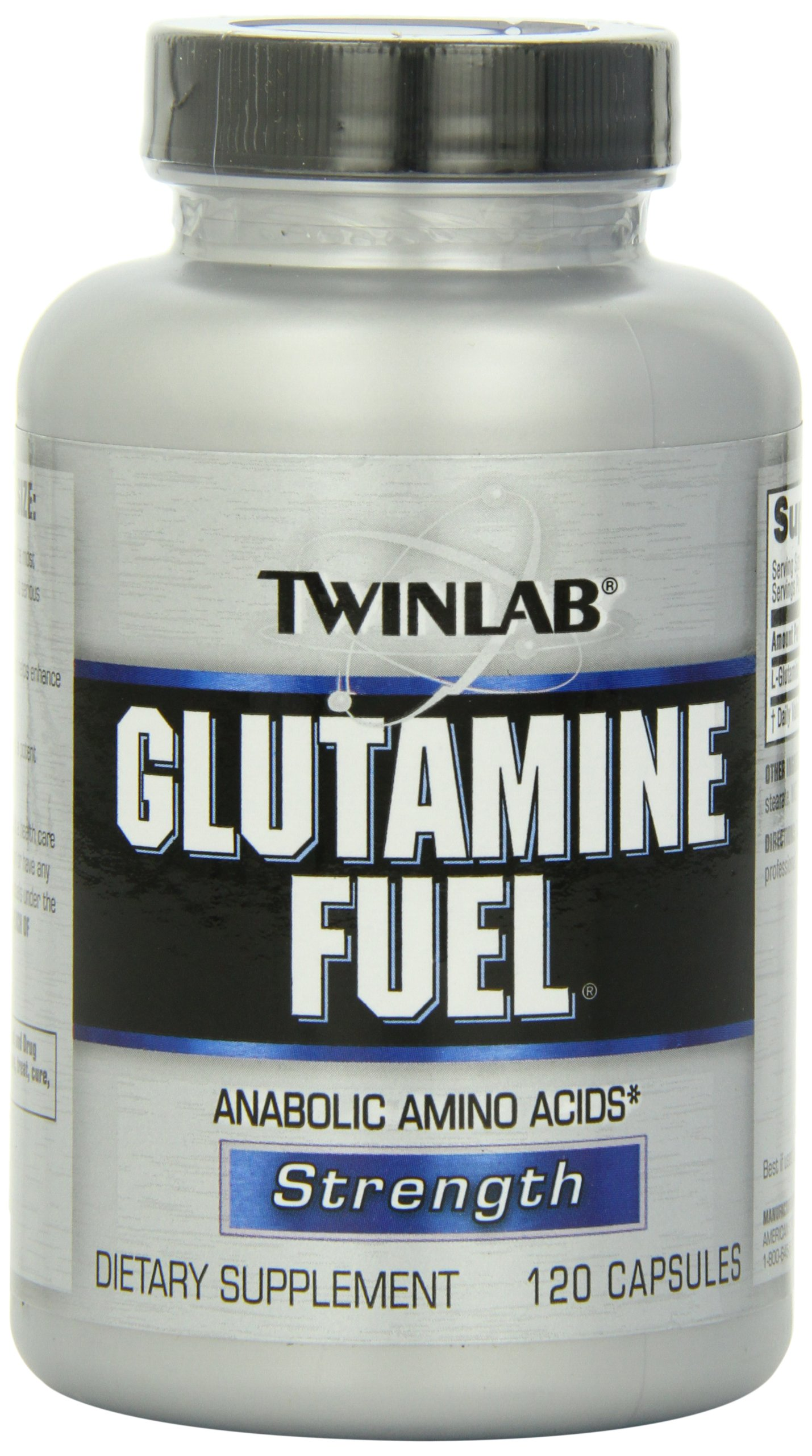 Twinlab Glutamine Fuel, 120 Capsules (Pack of 2)
