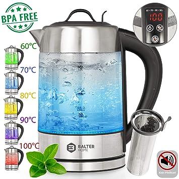 Balter WK de 3 LCD Hervidor de agua con filtro de té ✓ Selección de temperatura