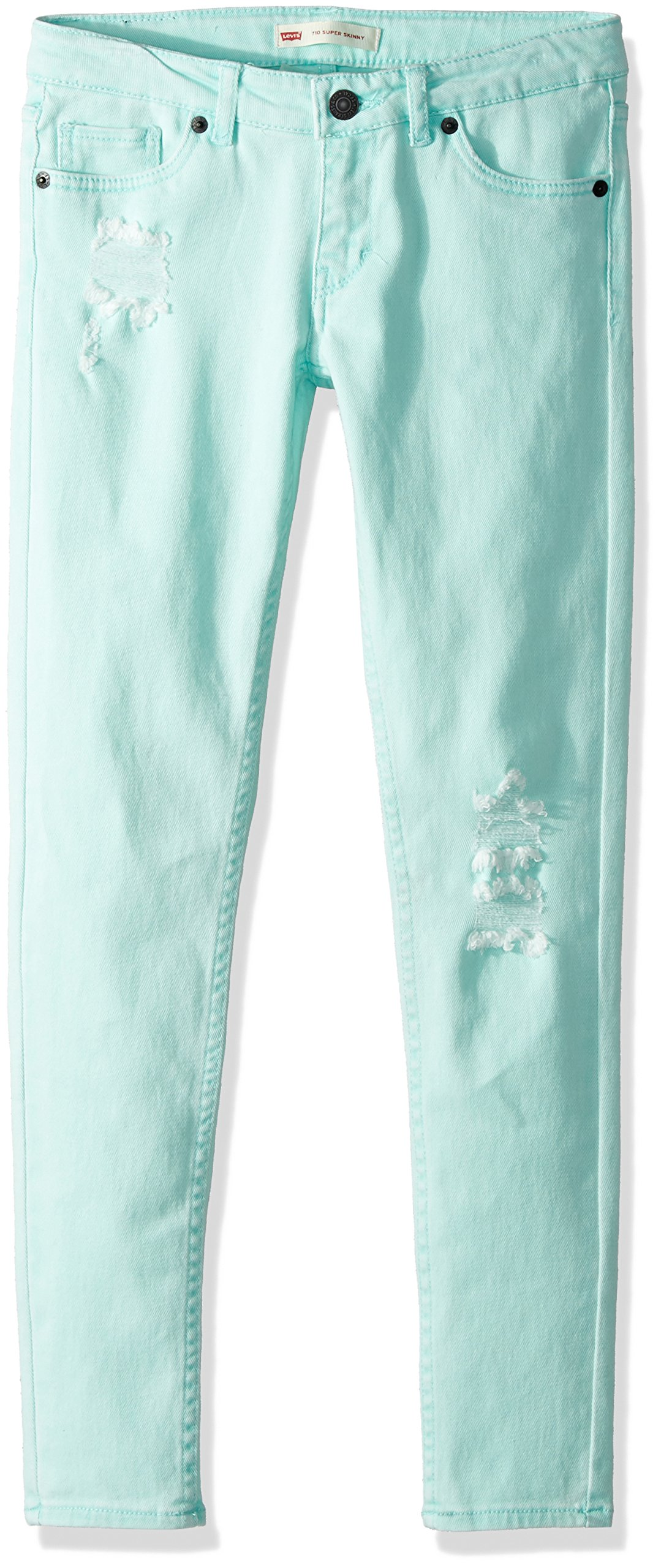 Levi's Little Girls' 710 Ankle Super Skinny Jeans, Fair Aqua, 6
