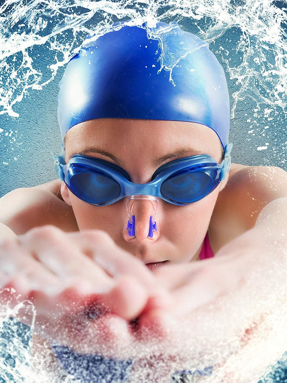 ZARRS Nuoto Naso Clip,6 Pack Silicone Clips da Nuoto Impermeabile Nuoto Tappi Protezione per Adulti e Bambini
