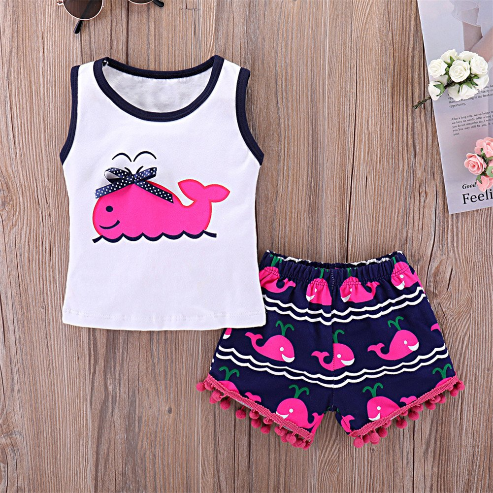 2703023147c Amazon.com  Mikrdoo Toddler Girl Summer Clothes Vest Tops Tassels Shorts  2pcs Baby Girl Outfit Suit  Clothing
