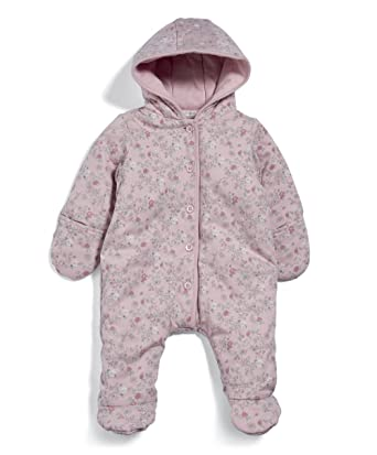 d39a2775d Mamas   Papas Baby Girls  Pramsuit-Pink Snowsuit  Amazon.co.uk  Clothing