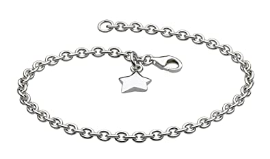 Dew Women's Sterling Silver Star Charm Bracelet of Length of 7 inch NLb1o