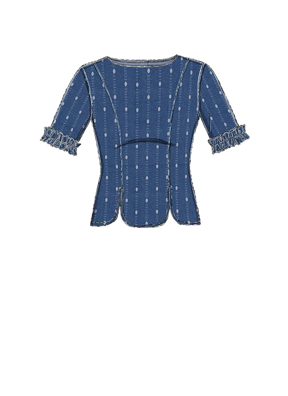 McCall \'s patrones de costura para tops, tejido, multicolor, 17 x 0 ...