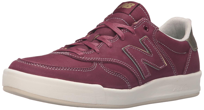 New Balance Men's Crt300 Classic Court Fashion Sneaker 5.5 D(M) US Garnet/White