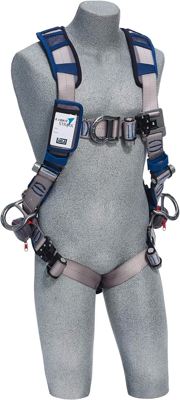 3M DBI-SALA ExoFit STRATA Vest-Style Positioning//Climbing Harness 1112491 Grey Medium Blue 1 EA