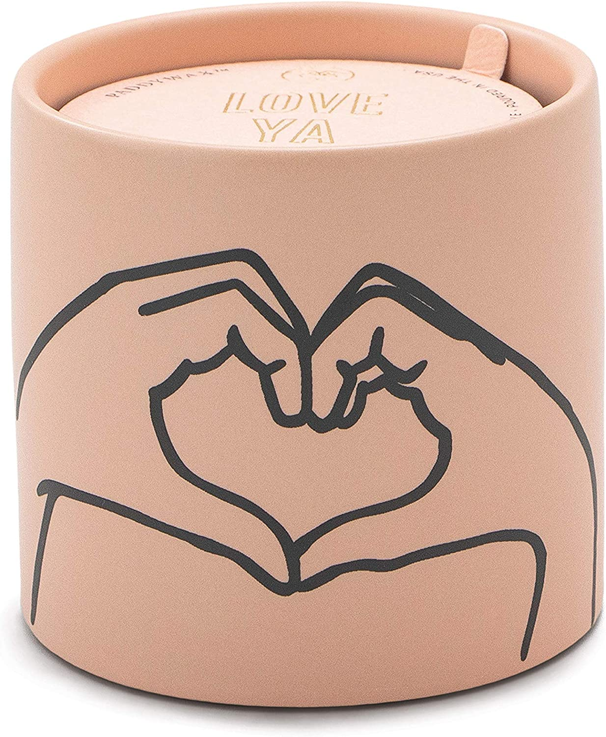 Heart Paddywax Candles Impressions Collection Scented Candle 5.75-Ounce Tobacco /& Vanilla Dusty Pink