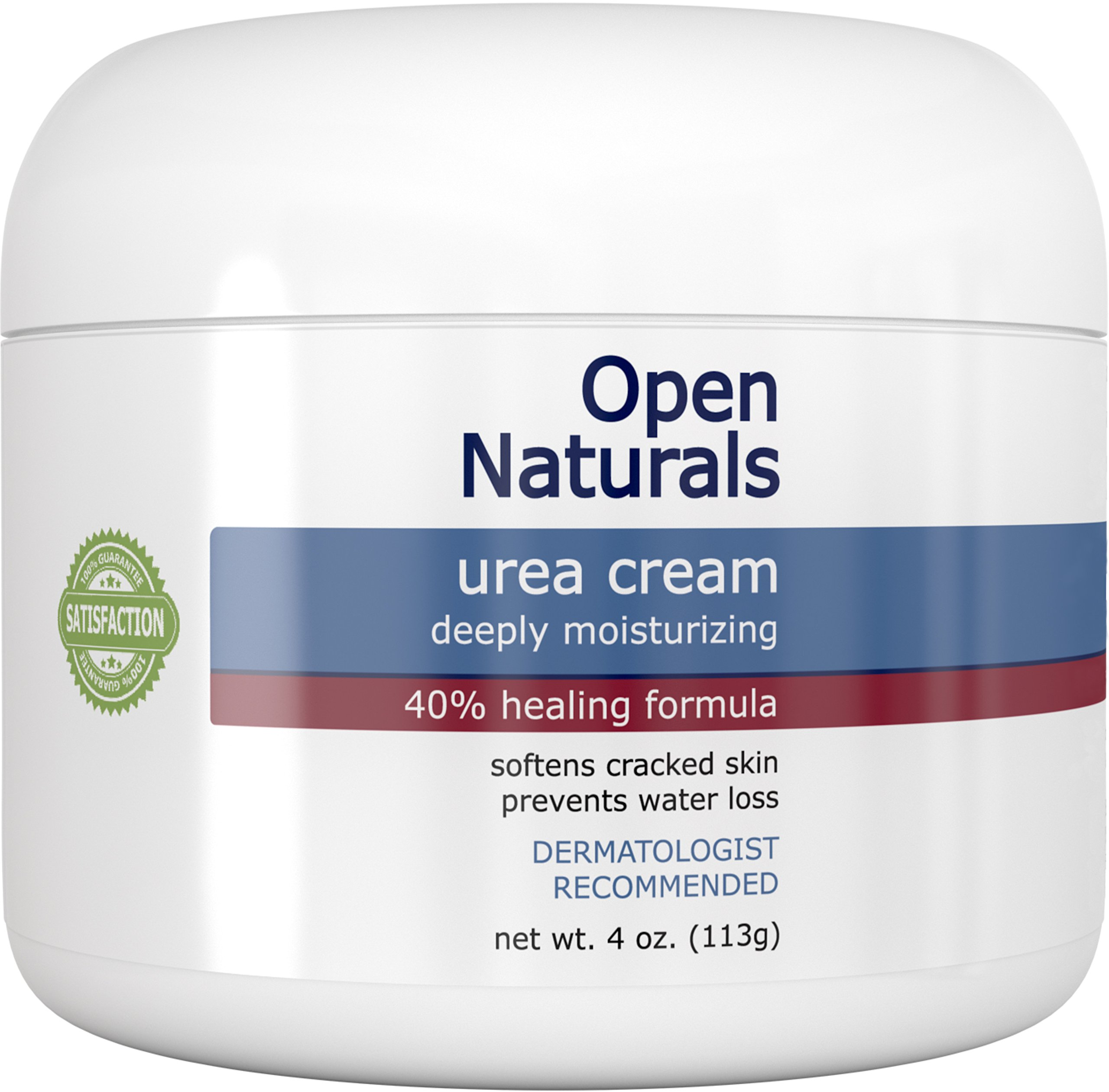 Open Naturals Urea 40% Foot Cream - 4 oz - Premium Callus Remover - Moisturizes and Rehydrates Thick, Cracked, Rough, Dead and Dry Skin - Elbow, Feet - Your Satisfaction or 100% Money Back Guarantee by Open Naturals