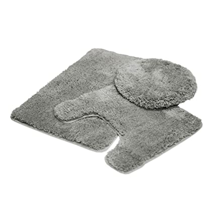 Peachy Mary 3 Piece Bathroom Rug Set Luxury Soft Plush Shaggy Thick Fluffy Microfiber Bath Mat Countour Rug Toilet Seat Lid Cover Non Slip Rubber Back Andrewgaddart Wooden Chair Designs For Living Room Andrewgaddartcom
