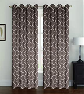 Amazon.com: Studio 1012 Window Curtains - Set of Two Sheer Floral ...