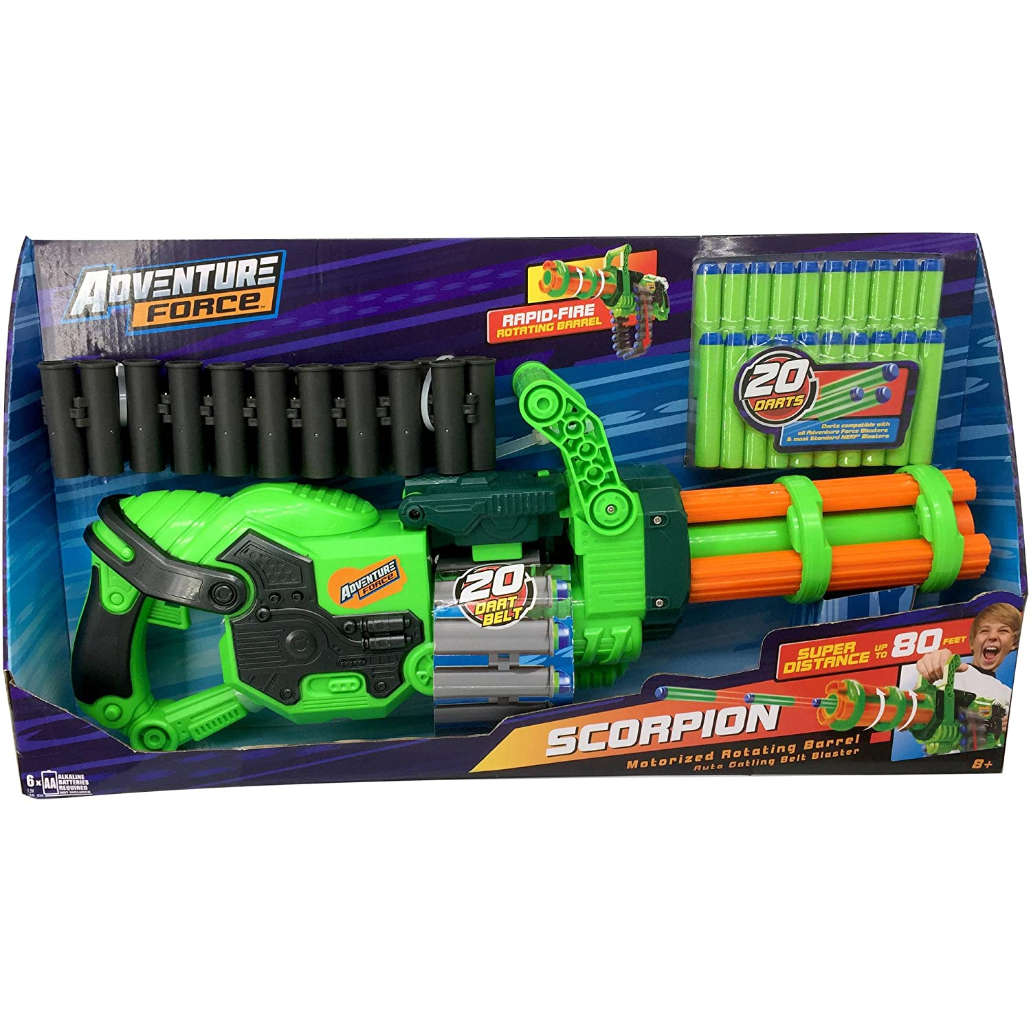 Adventure Force Scorpion Motorized Gatling Dart Blaster Toy by Dart Zone