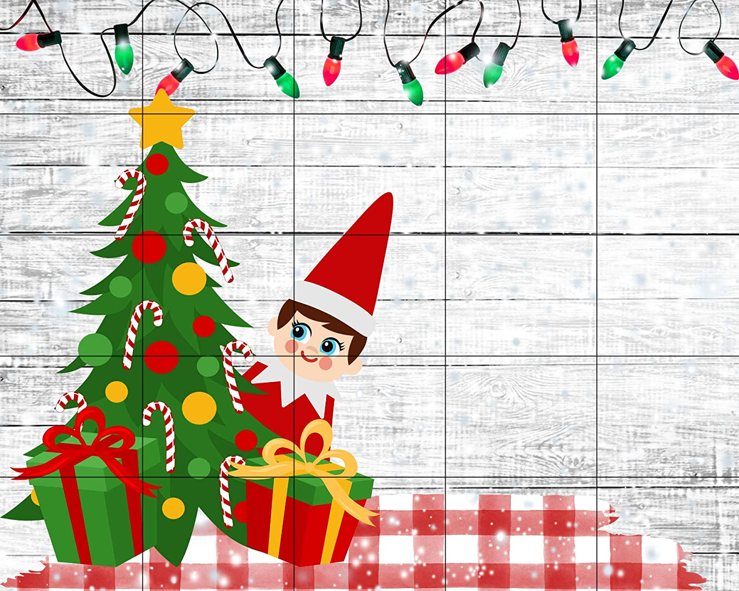 Kid Gift Christmas Elf Puzzle Personalized Puzzle Gingerbread House with Christmas Lights and Elf Childrens Custom Puzzle Elf Return