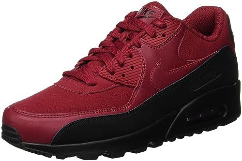 NIKE Men's Air Max 90 Essential Fitness Shoes, Multicolour (BlackRed Crush 010), 9 UK 9 UK