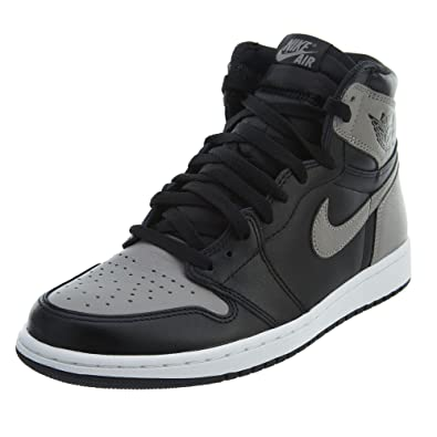 big sale 44fd8 2c81c Nike Herren Air Jordan 1 Retro High Og Gymnastikschuhe, Schwarz  (Black Medium Grey
