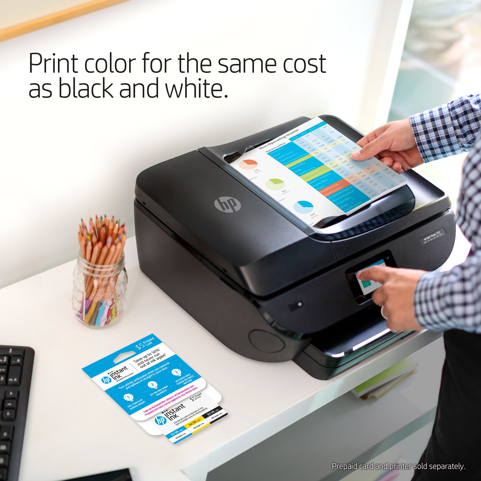 HP ENVY 5055 All-in-One Photo Printer with Wireless Printing (M2U85A) and Instant Ink Prepaid Card for 50 100 300 Page per Month Plans (3HZ65AN) by HP (Image #6)