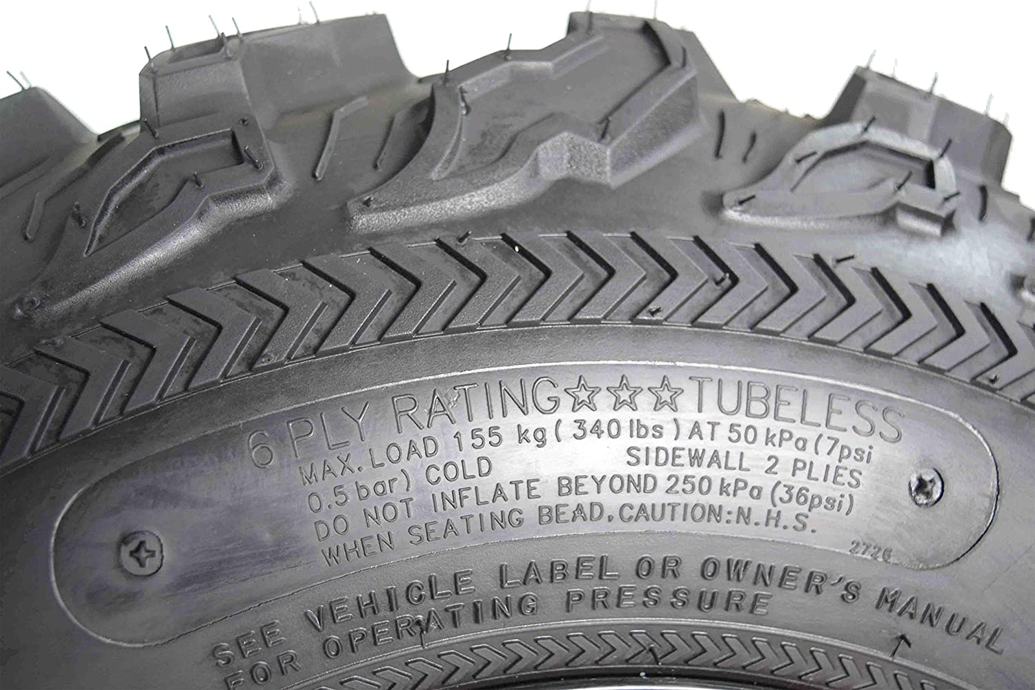 Kenda Bear Claw EX 25x8-12 Front ATV 6 PLY Tires Bearclaw 25x8x12-2 Pack