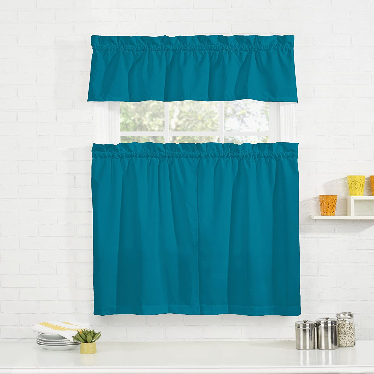 Pairs to Go Cadenza Tier Set, 56x36, Teal Ellery Homestyles 16544056X036TEL