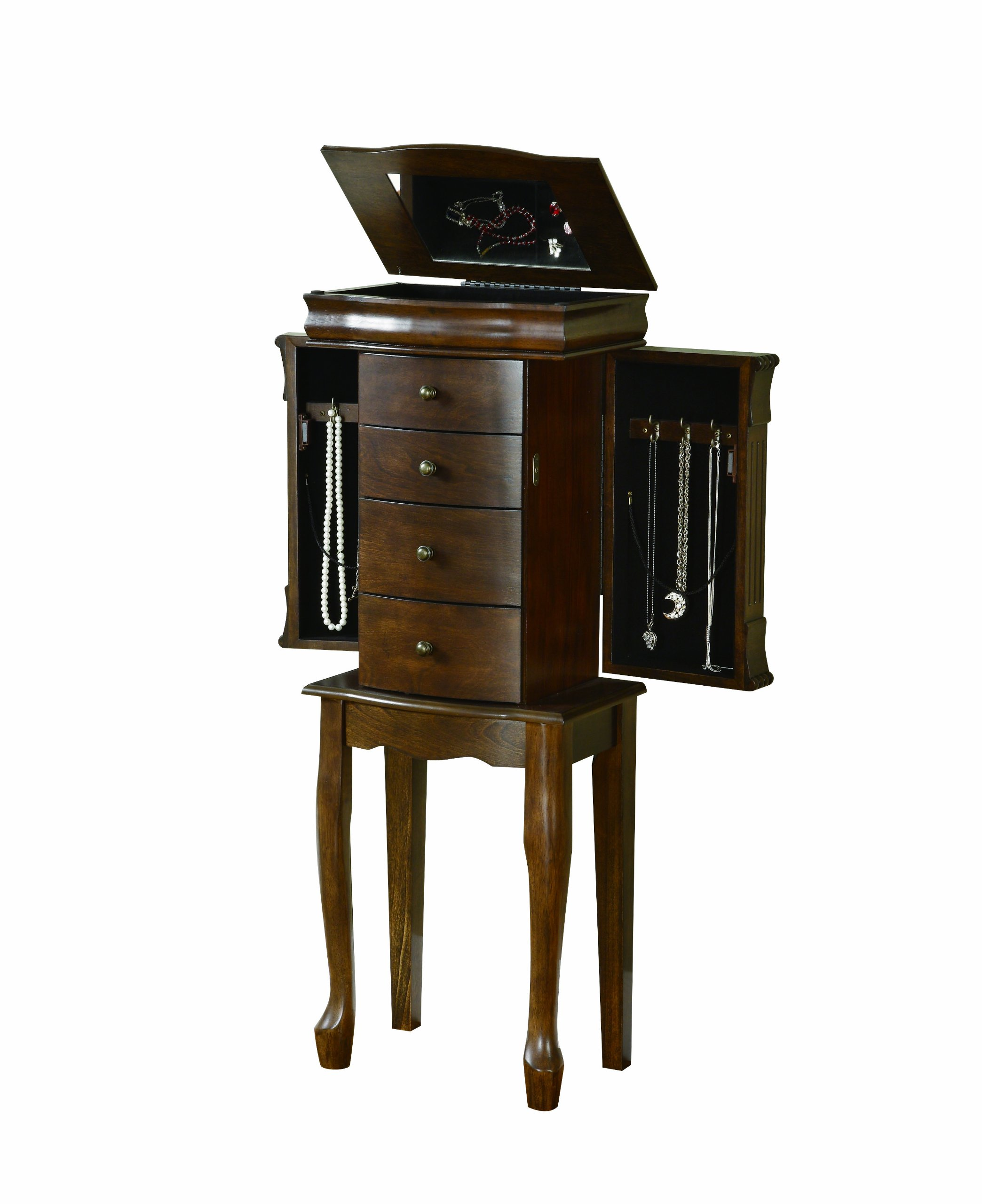 Powell Louis Philippe Walnut Jewelry Armoire by Powell (Image #2)