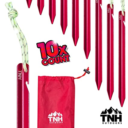 TNH Outdoors 10X Aluminum Tri-Beam Tent Stakes and Bag - Made for C&ing -  sc 1 st  Amazon.com & Amazon.com : TNH Outdoors 10X Aluminum Tri-Beam Tent Stakes and ...