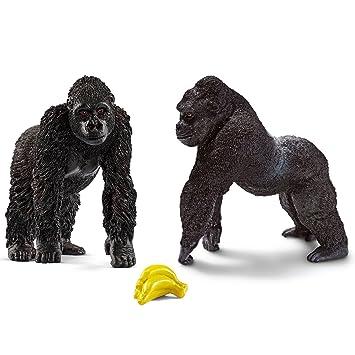 Schleich Detailgetreu Gorilla Männchen Figur Tierfigur Kinder Spielzeugfigur NEU Action- & Spielfiguren
