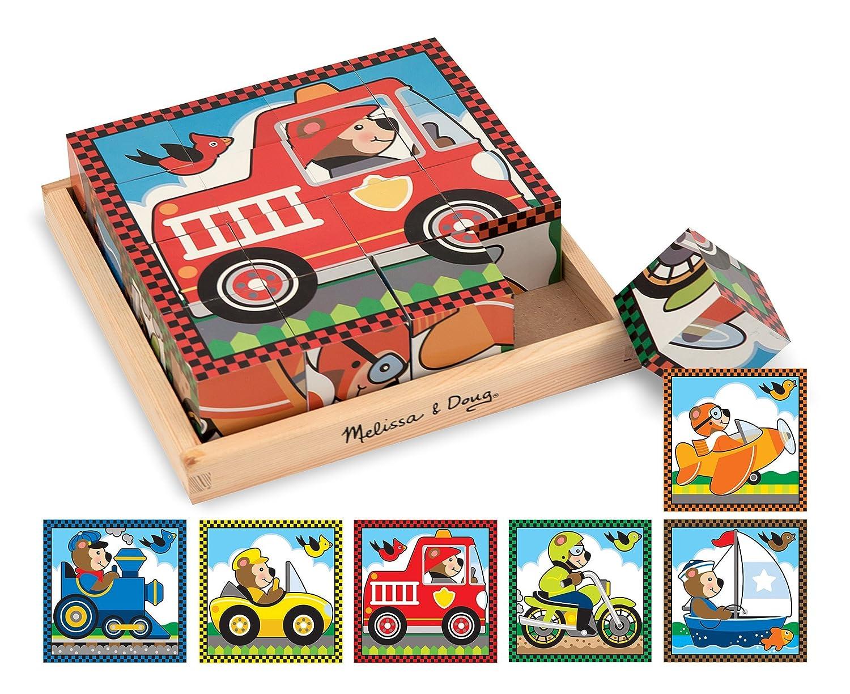 Melissa & Doug Vehicles Cube Puzzle 772