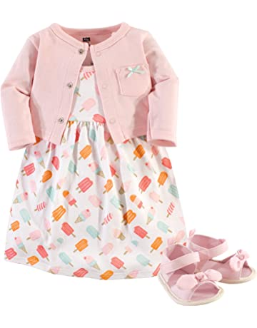 e2384bacf297 Hudson Baby Baby Girls  3 Piece Dress