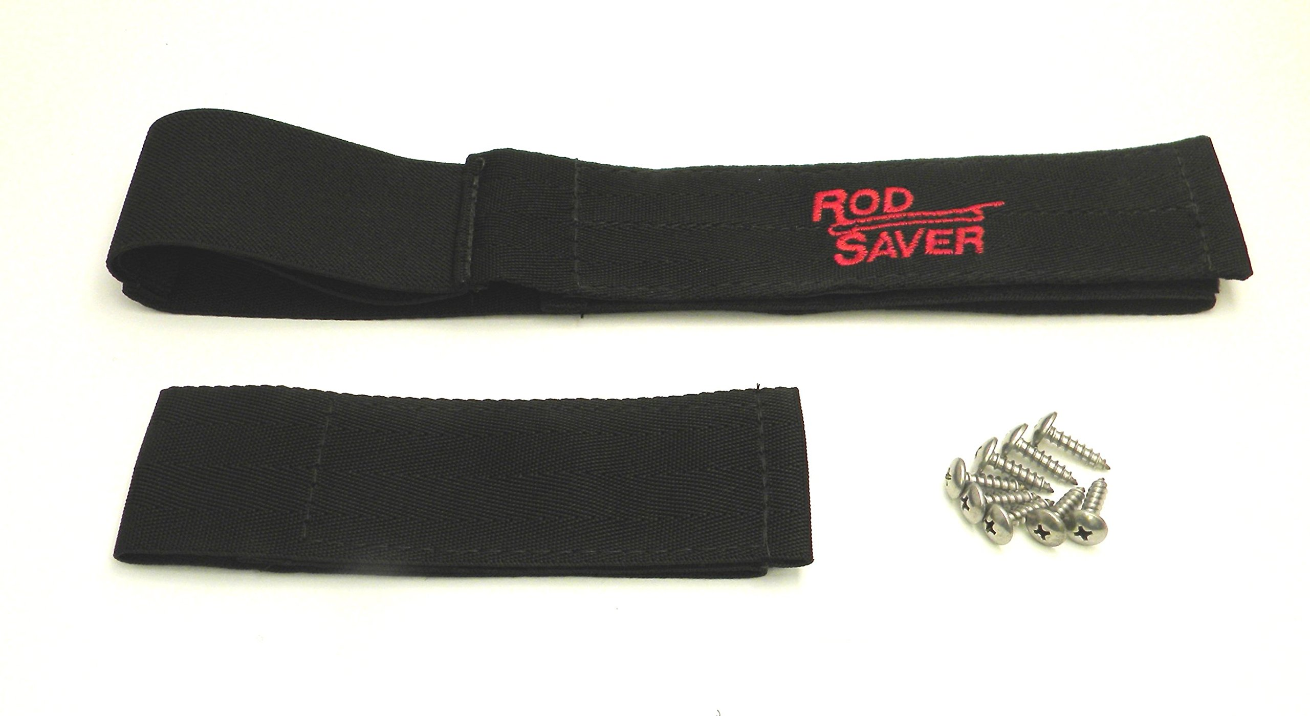 Rod Saver 12/6PM Pro Model Marine Stretch Set with 12-Inch and 6-Inch Straps, 2-Pieces, Black Finish