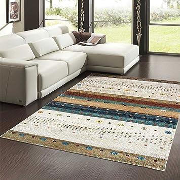Unamourdetapis Tapis Salon Orient Gabbeh Beige 120 X 170 Cm Tapis De
