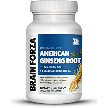 Brain Forza American Ginseng Root Grown in Wisconsin (5-6 Year Aged) for