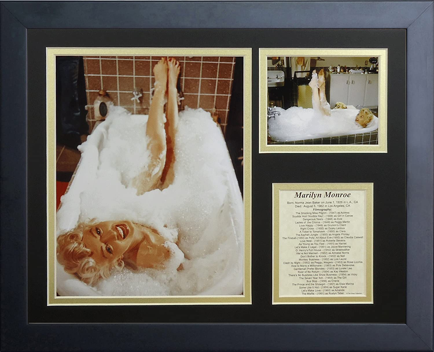 Legends Never Die Marilyn Monroe Tub Framed Photo Collage, 11x14-Inch