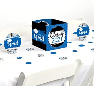 product image for Big Dot of Happiness Blue Grad - Best is Yet to Come - Royal Blue 2021 Graduation Party Centerpiece & Table Decoration Kit