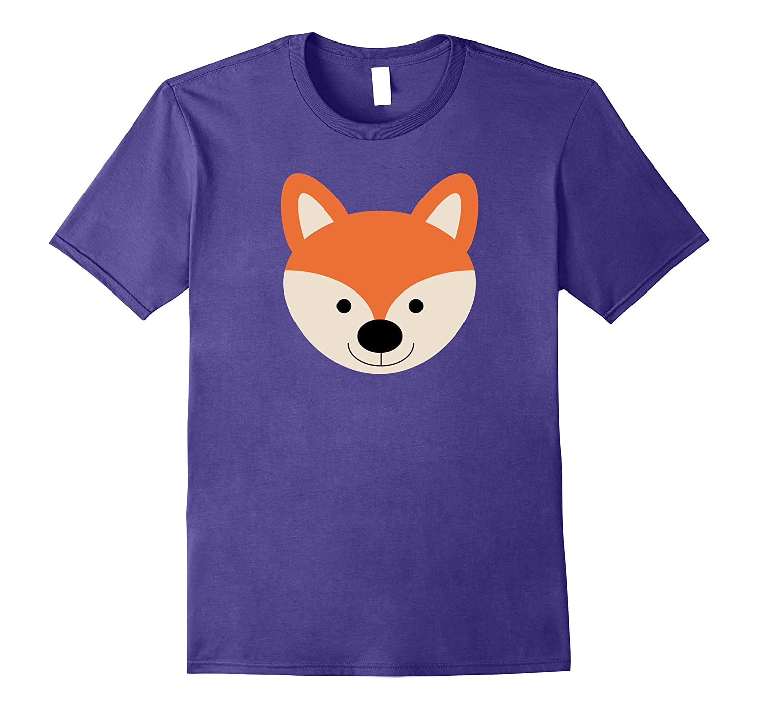 Fun and Simple Fox Simple Cartoon Face T-shirt-FL