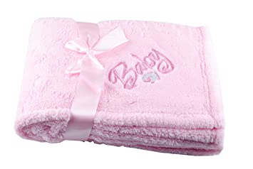 Amazon gp custom embroidery polyester monogrammed blanket gp custom embroidery polyester monogrammed blanket personalized embroidered baby blanket cuddle wrap newborn name fleece negle Images