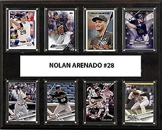 product image for C&I Collectables MLB Colorado Rockies Men's Nolan Arenado 8-Card Plaque, Brown