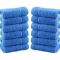 Juego de 12 toallas para la cara de gamuza 100 % algodón de 550 g/m²