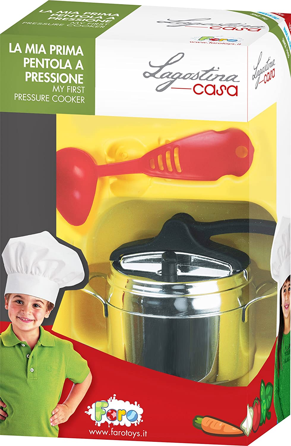 Faro Lagostina Little Chrome-Plated Pressure Cooker Toy
