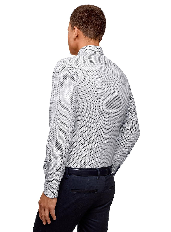 oodji Ultra Hombre Camisa de Algodón Entallada: Amazon.es: Ropa y ...