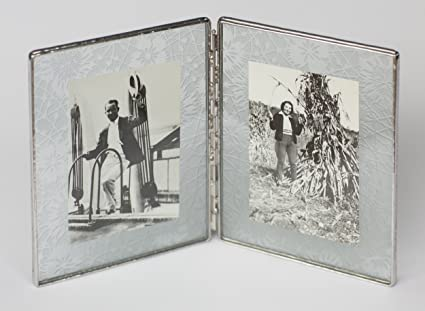Amazon.com: Bedford Downing Floating Glass Picture Frame in Etched ...