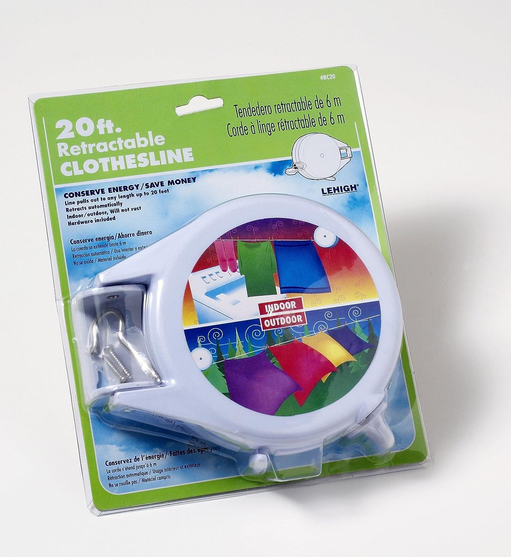 Amazon.com: SecureLine RC20 20 Foot Retractable Clothesline: Home  Improvement