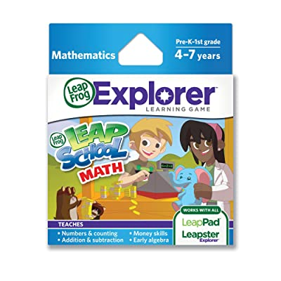 LeapFrog LeapSchool Math Learning Game (works with LeapPad Tablets, LeapsterGS, and Leapster Explorer): Toys & Games