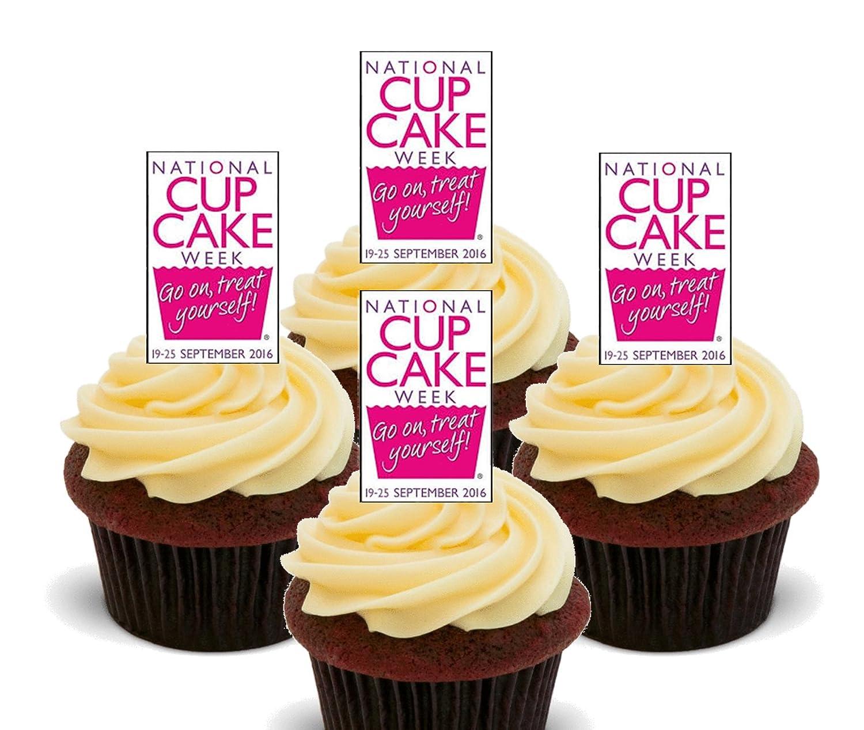 Semana Nacional de Cupcake - Comestible Cupcake Toppers - Pie ...