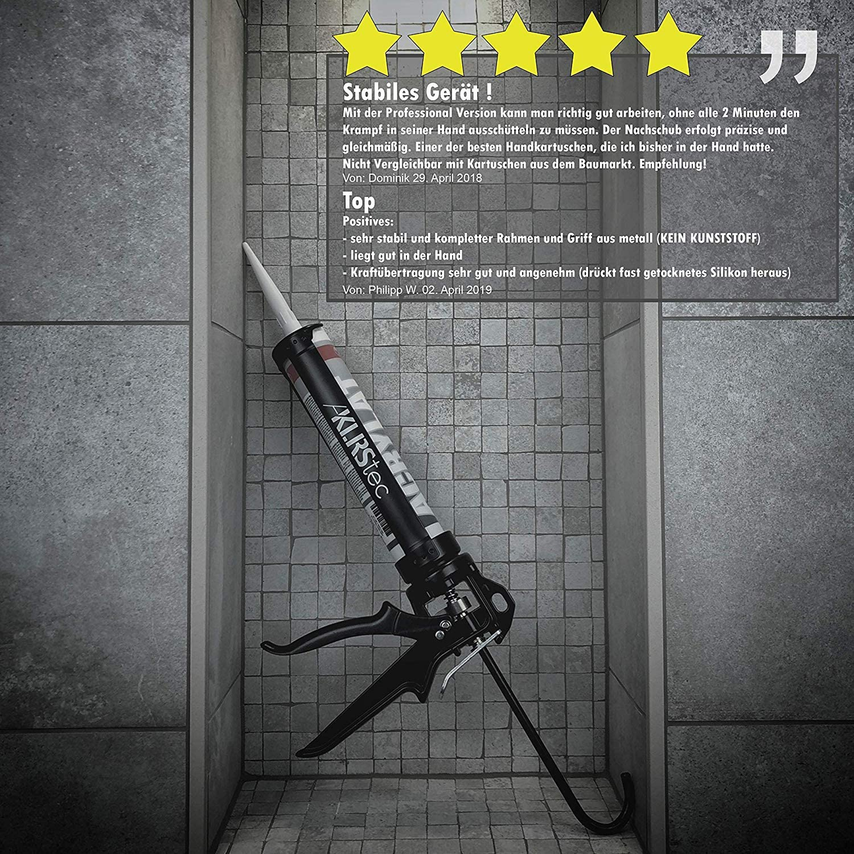 silicona, acr/ílico, etc. Silicona Pistola de aluminio para todo tipo de 310 ml resistente al de y klebstoffkartuschen KLRStec PROFESSIONAL calafatear alta calidad Silicona Jeringa