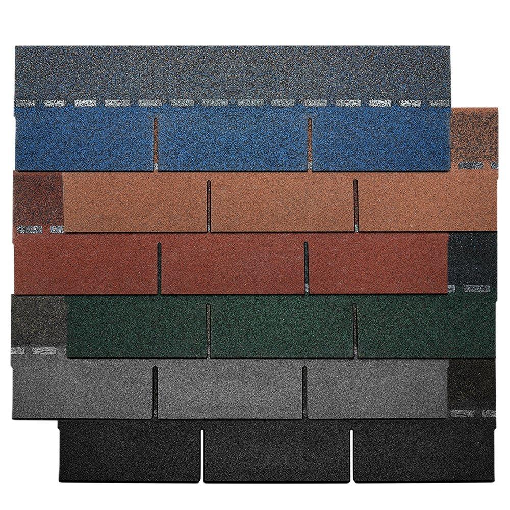 21 tiles/3.0 sqm Asphalt Roof Felt Tiles Shingles Sheds Log Cabins Summerhouses Garages Grey YX146 by panana Songtree