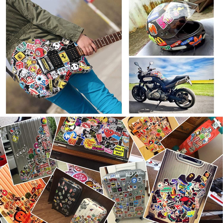 Gitarre Gep/äck Skateboard 100 St/ück Vinyl-Aufkleber f/ür Laptop Band Stickers Pack Rock Roll Aufkleber Graffiti-Aufkleber Klavier elektronisches Organ Aufkleber /– B